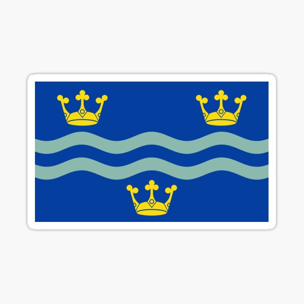 Cambridgeshire Flag Gifts, Stickers & Products  Sticker