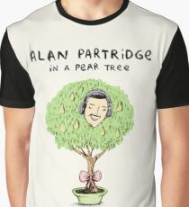 Alan Partridge in a Pear Tree Graphic T-Shirt