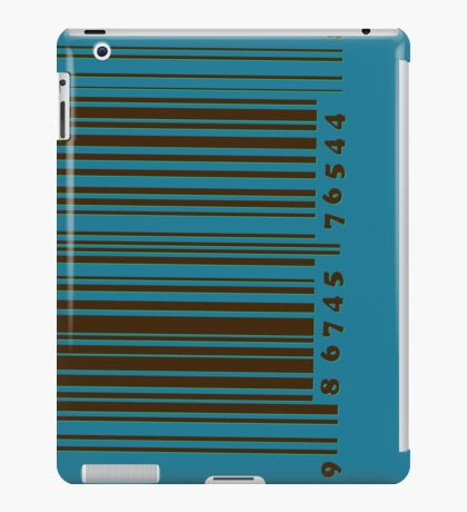 Bar code on blue iPad Case/Skin
