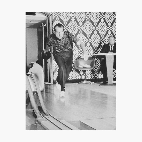 President Richard Nixon Bowling At The White House Photographic Print