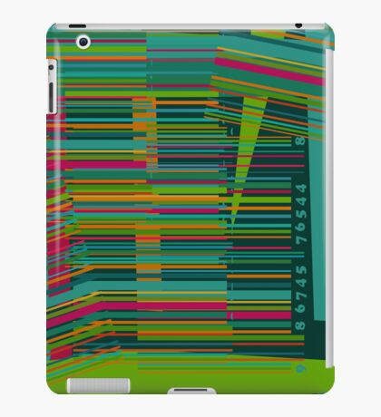 Colorful decorative bar code iPad Case/Skin