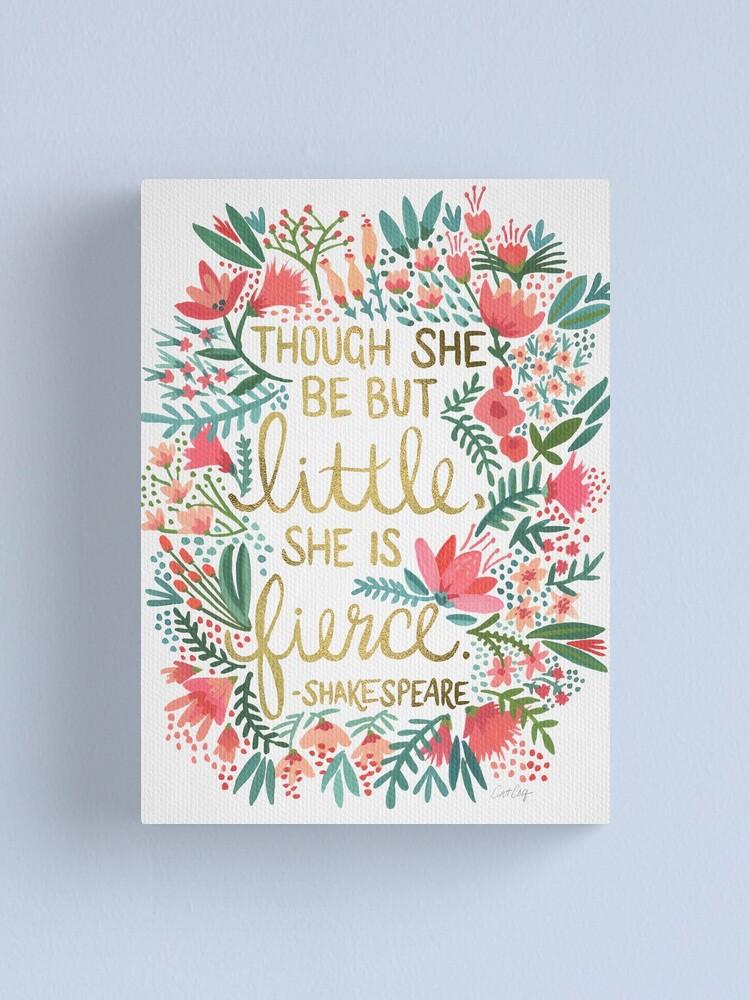 Alternate view of Little & Fierce Canvas Print