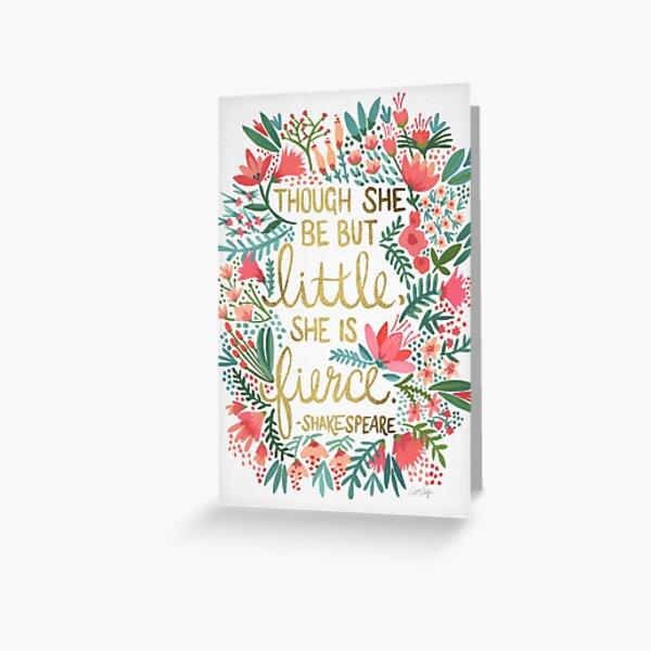 Little & Fierce Greeting Card
