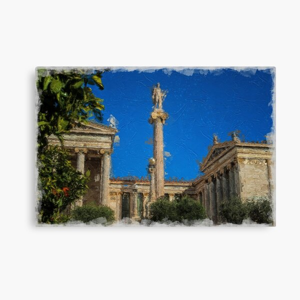 The Academy of Athens Building Digital Painting Canvas Print