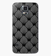 Silbernes Glitter Art DecoMuster Hülle & Klebefolie für Samsung Galaxy