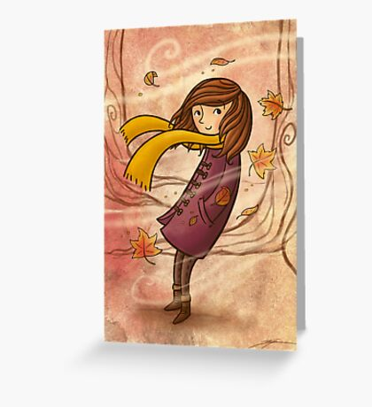 Autumn Wind Greeting Card