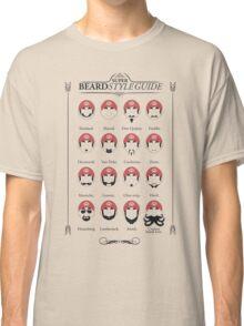 Super Mario - Beard Style Guide Classic T-Shirt