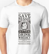 Save Nessie, Drink Whisky! T-Shirt