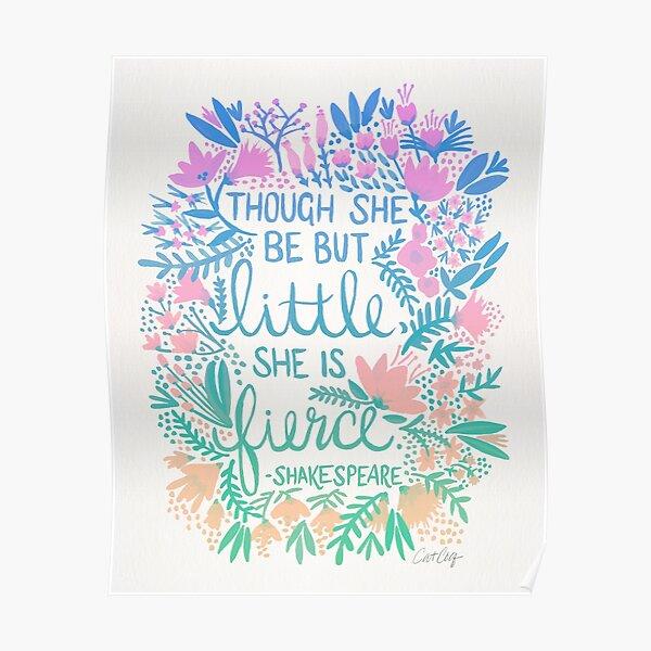 Little & Fierce – Lavender Mint Ombré Poster