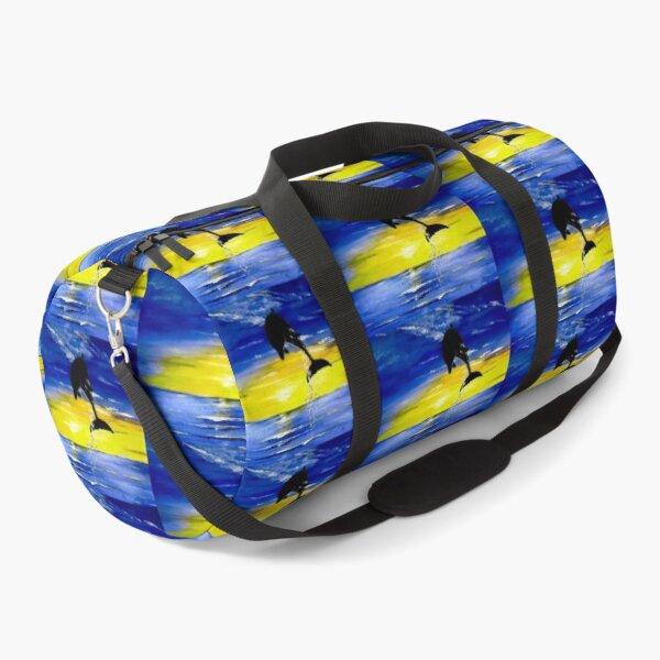 Good Morning Dolphin Duffle Bag