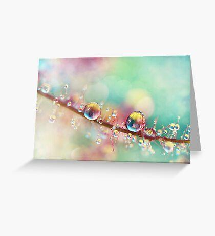 Rainbow Smoke Drops Greeting Card