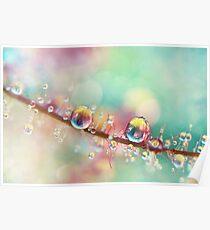 Rainbow Smoke Drops Poster
