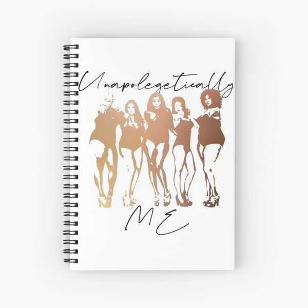Unapolegetically Me Self Love, Body Positivity,  Gender Equality, Strong women, Black woman, Women Empowerment, Cultural Spiral Notebook