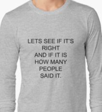 Let's see if it's right....Pointless Long Sleeve T-Shirt
