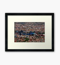Helicopter Over Cuenca Framed Print