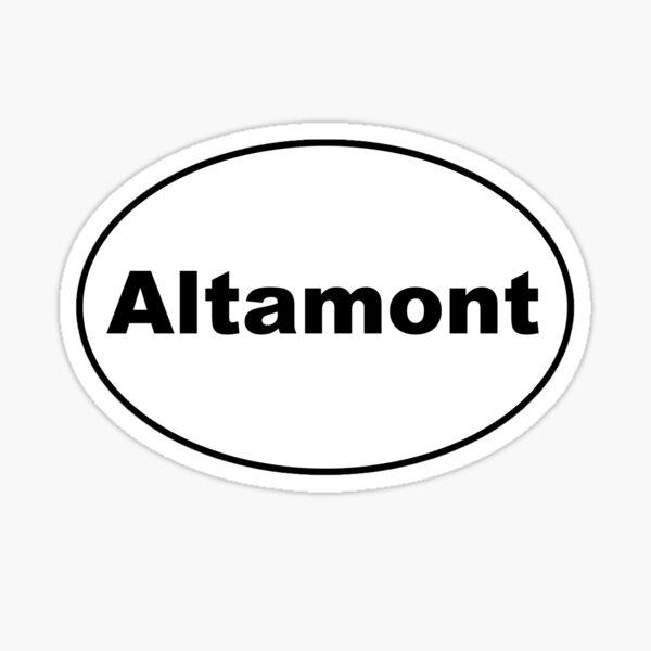 Altamont Sticker  Sticker
