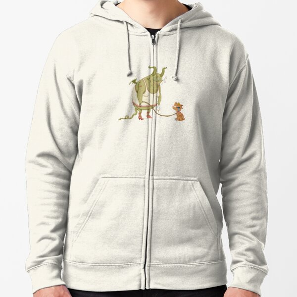 A demon and his dog... Zipped Hoodie