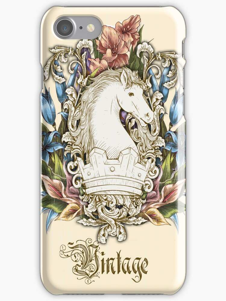 Vintage Florals & Horse by Sarah  Eldred