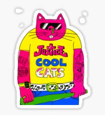 Cool Cats - Yellow / Justice Cat Sticker