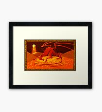 Smaug - My Armour is Like Ten Thousand Shields Framed Print