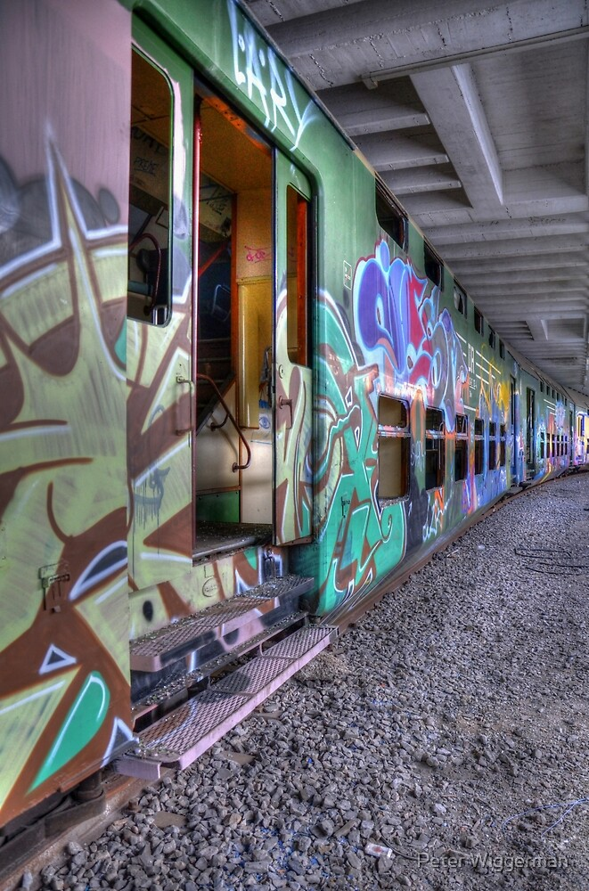 Colorful train by Peter Wiggerman
