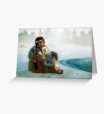 Native american indian greeting cards redbubble sing you a lullabye greeting card m4hsunfo