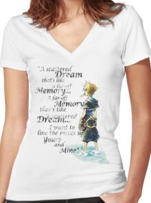 Quote from the heart Women's Fitted V-Neck T-Shirt