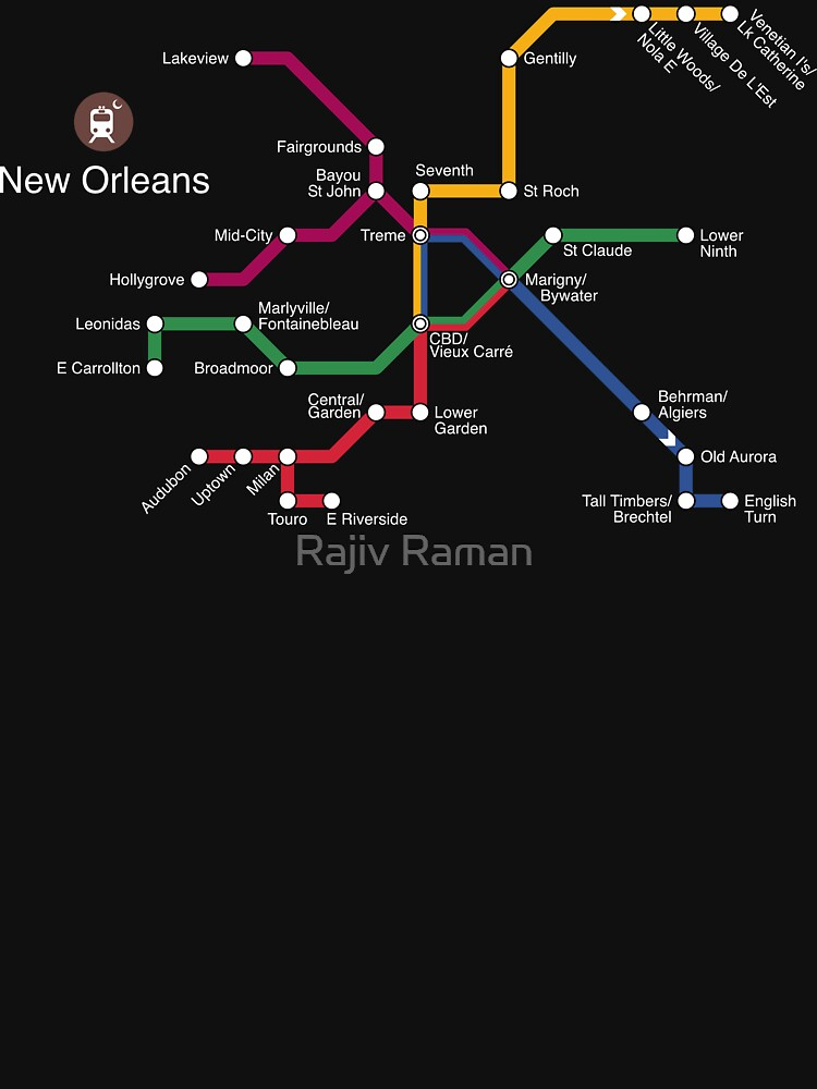 New Orleans (white) by arrtworks