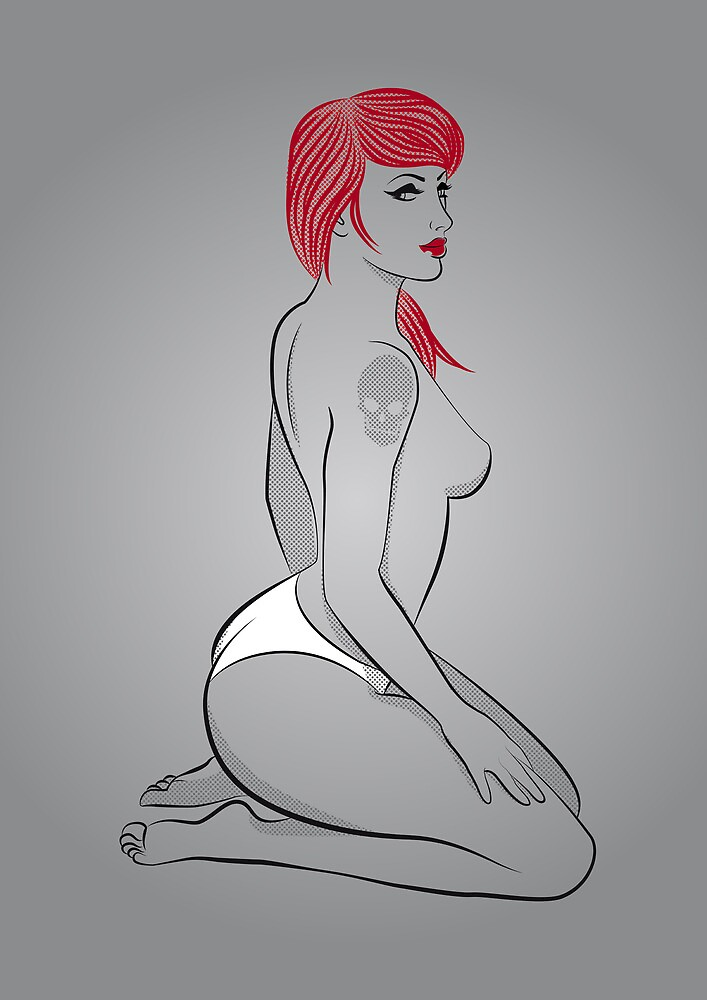 Red Girl V.6 by Marco Recuero