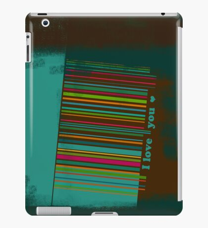 I love you - bar code iPad Case/Skin