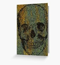 knitted skull Greeting Card