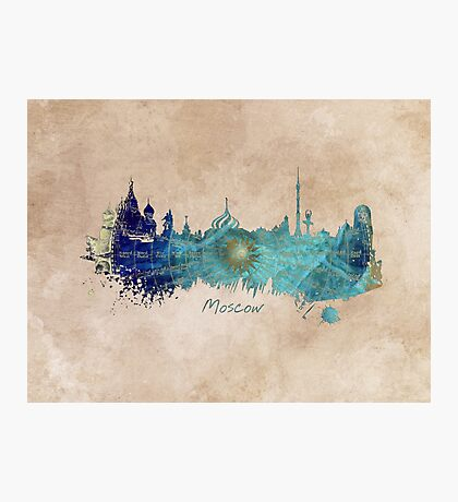Moscow skyline wind rose Photographic Print