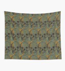 knitted skull Wall Tapestry