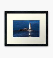Dusk at St Mary's Lighthouse Framed Print