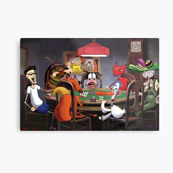 Courage le chien lâche (créé par John R. Dilworth pour le CN) et en le mettant à la place du tableau bien connu «Un ami dans le besoin». Il s'agit d'une parodie basée sur les fans. Je ne revendique aucune propriété pour aucun personnage ou ressemblance d Impression métallique