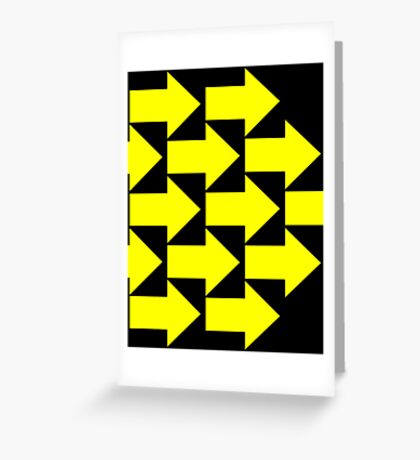 Yellow Arrows  Greeting Card
