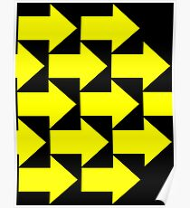Yellow Arrows  Poster