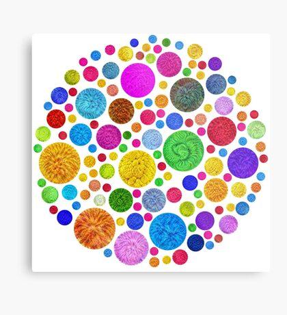 #DeepDream Color Circles Visual Areas 4x4K v1448872458 Metal Print