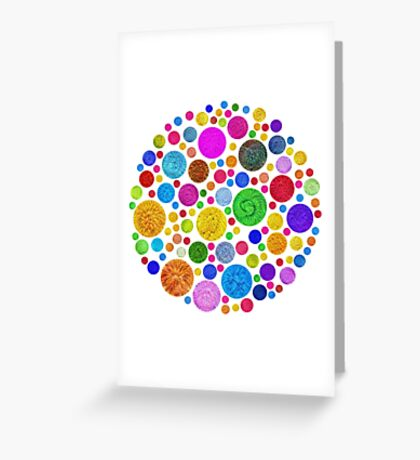 #DeepDream Color Circles Visual Areas 4x4K v1448872458 Greeting Card