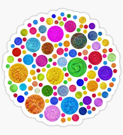 #DeepDream Color Circles Visual Areas 4x4K v1448872458 Sticker