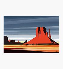 Arizona Desert Landscape Sunset Illustration Photographic Print