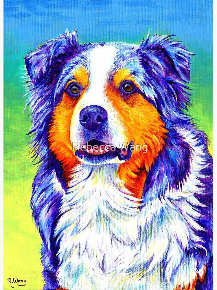 Alert Aussie - Blue Merle Australian Shepherd Dog by lioncrusher