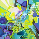 Residual Glow, Intermittent Noise - Abstract Acrylic Canvas Painting by jeffjag