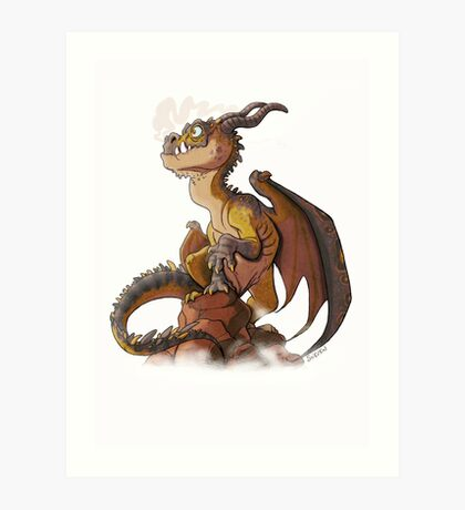 It's a dragon! Art Print