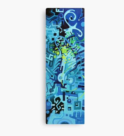 Held Gently in Blue - Abstract Acrylic Canvas Painting Canvas Print