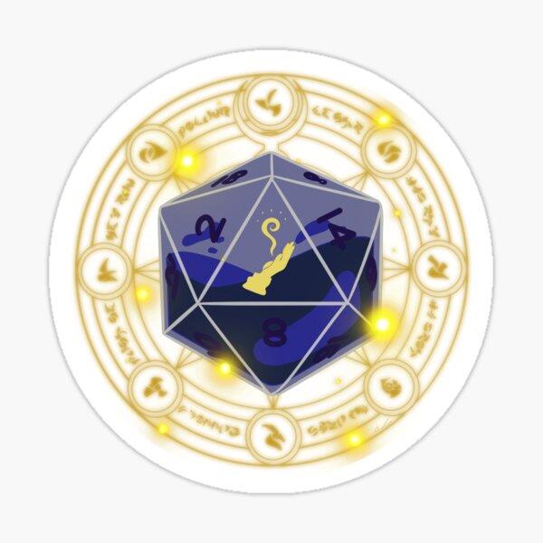 Wizard D20 Sticker