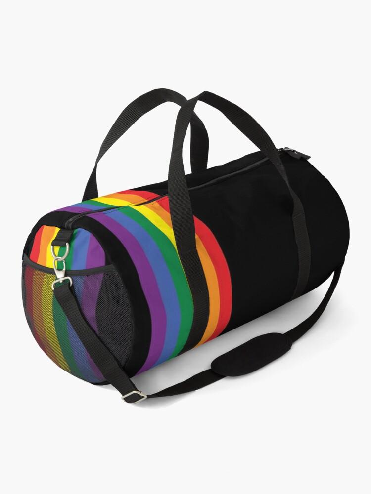 Alternate view of Rainbow Pride LGBT Strip  Duffle Bag