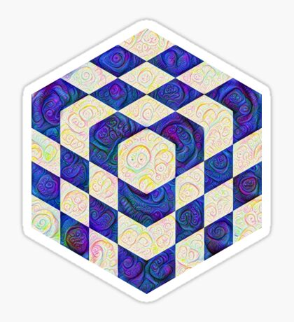 #DeepDream Color Squares Visual Areas 5x5K v1448964615 Glossy Sticker