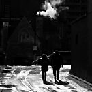 An alley in winter by AndreCosto