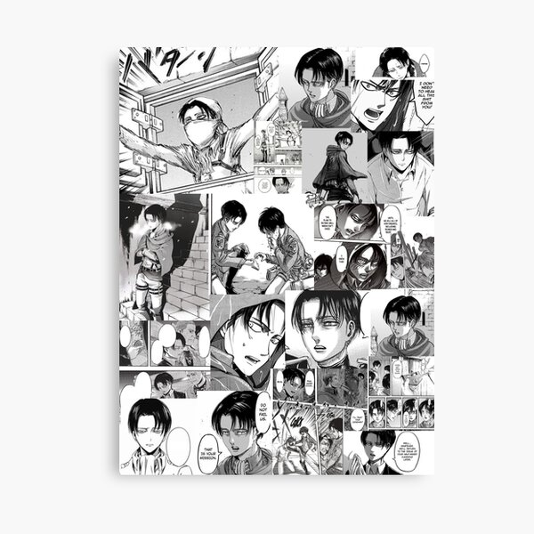 Levi Manga Collage  Canvas Print